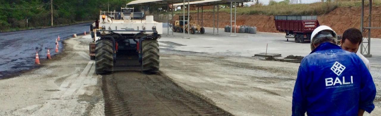 Reciclagem de Pavimento<br>patio de carregamento da Ical